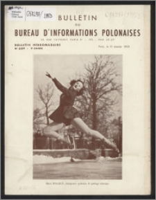 Bulletin du Bureau d'Informations Polonaises : bulletin hebdomadaire 1953.01.12, An. 9 no 237