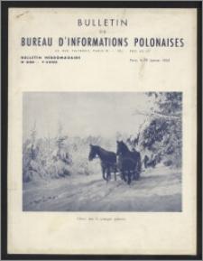Bulletin du Bureau d'Informations Polonaises : bulletin hebdomadaire 1953.01.19, An. 9 no 238