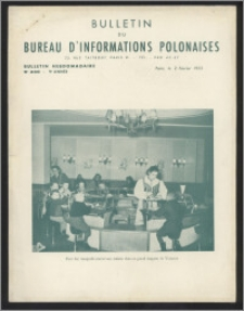 Bulletin du Bureau d'Informations Polonaises : bulletin hebdomadaire 1953.02.02, An. 9 no 240