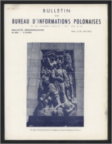Bulletin du Bureau d'Informations Polonaises : bulletin hebdomadaire 1953.04.20, An. 9 no 251