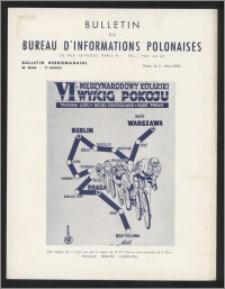 Bulletin du Bureau d'Informations Polonaises : bulletin hebdomadaire 1953.05.11, An. 9 no 254