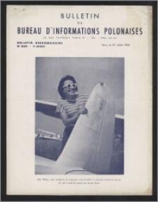 Bulletin du Bureau d'Informations Polonaises : bulletin hebdomadaire 1953, An. 9