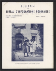 Bulletin du Bureau d'Informations Polonaises : bulletin hebdomadaire 1953.08.31, An. 9 no 268