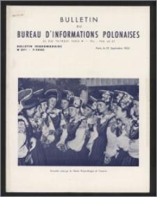 Bulletin du Bureau d'Informations Polonaises : bulletin hebdomadaire 1953.09.22, An. 9 no 271