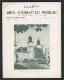 Bulletin du Bureau d'Informations Polonaises : bulletin hebdomadaire 1953.11.16, An. 9 no 278