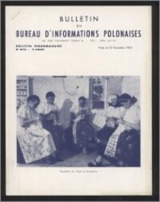 Bulletin du Bureau d'Informations Polonaises : bulletin hebdomadaire 1953.11.23, An. 9 no 279