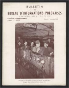 Bulletin du Bureau d'Informations Polonaises : bulletin hebdomadaire 1953.12.07, An. 9 no 281