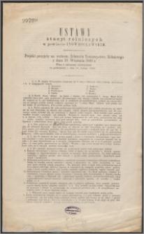 Ustawy stacyi rolniczych w powiecie Inowrocławskim : projekt przyjęty na walnem Zebraniu Towarzystwa Rólniczego z dnia 19. września 1868 r. wraz z zmianami uchwalonemi na posiedzeniu z dnia 14. lutego 1868