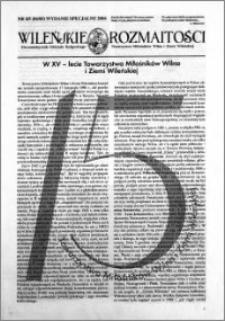 Wileńskie Rozmaitości 2004 nr 4-5 (84-85) wydanie specjalne