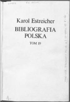 Bibliografia polska. Cz. 3, Stólecie [!] XV-XVIII w układzie abecadłowym. T. 8 (19), K-Ko