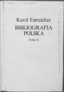 Bibliografia polska. Cz. 3, Stólecie [!] XV-XVIII w układzie abecadłowym. T. 10 (21), L-Ł