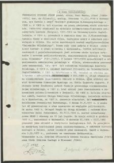 """Życiorys Zygmunta Józefa Fedorowicza, ps. """"Albin"""", """"Pani Maria"""", """"Józef"""""""