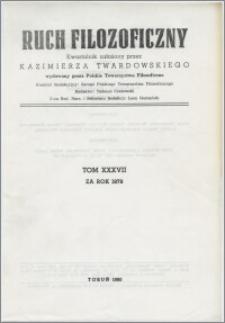 Ruch Filozoficzny 1979, T. 37 Indeks