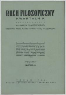 Ruch Filozoficzny 1963-1964, T. 22 nr 2-4