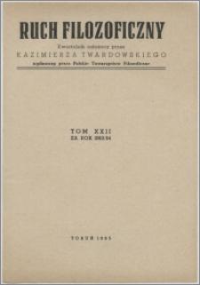 Ruch Filozoficzny 1963-1964, T. 22 Indeks