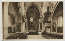 Mogilno - wnętrze kościoła poklasztornego - widok nawy głównej w kierunku wschodnim