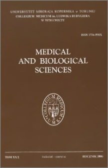 Medical and Biological Sciences 2006 vo. XX nr 2