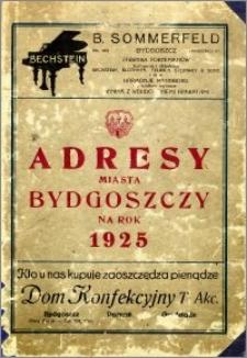 Adresy Miasta Bydgoszczy na rok 1925