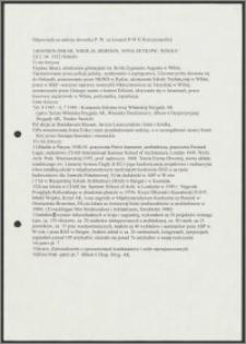 """Odpowiedzi na ankietę """"Słownika Polski Walczącej na Kresach Północno-Wschodnich Rzeczypospolitej"""""""