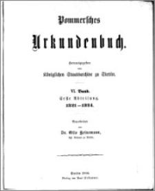 Pommersches Urkundenbuch. Bd. 6. Abt. 1, 1321-1324