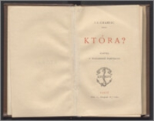 Która ? : karta z wspomnień paryskich