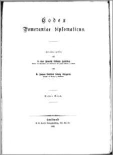Codex Pommeraniae diplomaticus. Bd. 1
