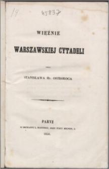 Więźnie warszawskiej cytadeli