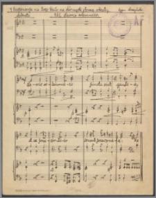 Cztery Responsoria na Boże Ciało na chór męski z towarzyszeniem orkiestry