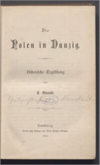 Die Polen in Danzig : historische Erzählung