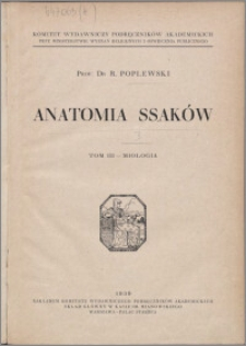 Anatomia ssaków. T. 3, Miologia