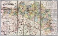 Inżyniera S. Kornmana mapa dróg bitych, żelaznych i wodnych Galicyi i Bukowiny w skali 1:750.000