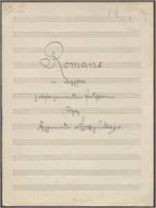 Romans na skrzypce z akompaniamentem fortepianu