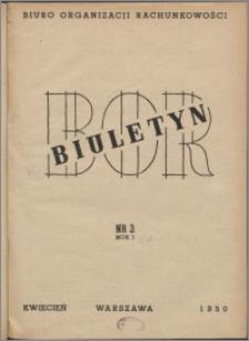 Biuletyn BOR 1950, R. 1 nr 3
