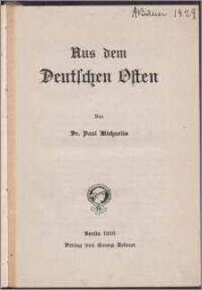 Aus dem Deutschen Osten