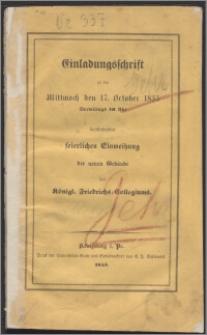 Der Holzkämmerer Theodor Gehr und die Anfänge des Königl. Fridrichs-Collegiums zu Königsberg