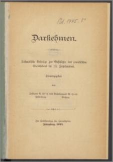 Darkehmen : urkundliche Beitrage zur Geschichte des preußischen Stadtlebens im 18. Jahrhundert