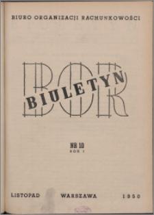 Biuletyn BOR 1950, R. 1 nr 10