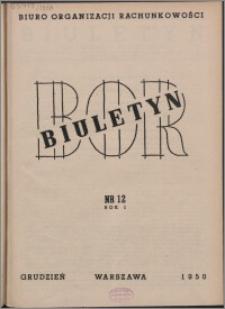 Biuletyn BOR 1950, R. 1 nr 12
