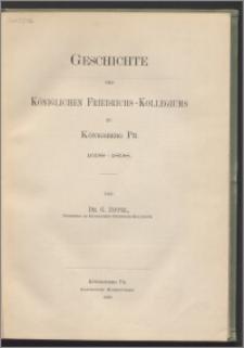 Geschichte des Königlichen Friedrichs-Kollegiums zu Königsberg Pr. : 1698-1898