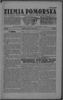 Ziemia Pomorska : pismo poświęcone obronie interesów rolnictwa, handlu, przemysłu i rękodzieła 1926.06.26, R. 2, nr 73