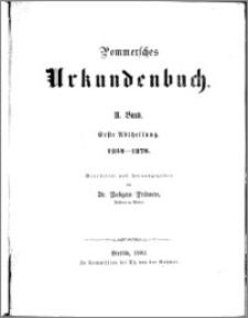 Pommersches Urkundenbuch. Bd. 2. Abt. 1, 1254-1278