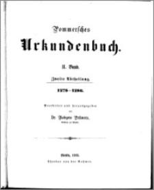 Pommersches Urkundenbuch. Bd. 2. Abt. 2, 1278-1286