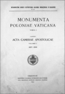 Acta Camerae Apostolicae. Vol. 1, 1207-1344
