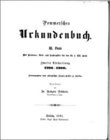Pommersches Urkundenbuch. Bd. 3. Abt. 2, 1296-1300 : mit Personen-, Orts- und Sachregister für den II. u. III Band
