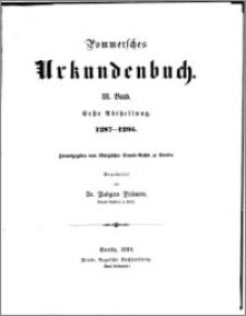 Pommersches Urkundenbuch. Bd. 3. Abt. 1, 1287-1295