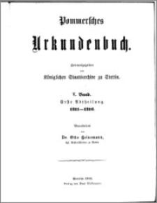 Pommersches Urkundenbuch. Bd. 5. Abt. 1, 1311-1316