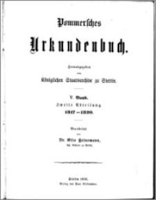 Pommersches Urkundenbuch. Bd. 5. Abt. 2, 1317-1320
