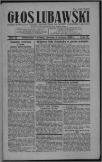 Głos Lubawski : polsko-katolicka gazeta bezpartyjna na powiat lubawski i okolice 1934.09.06, R. 1, nr 16
