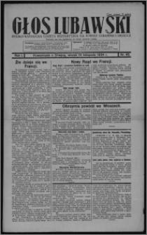 Głos Lubawski : polsko-katolicka gazeta bezpartyjna na powiat lubawski i okolice 1934.11.13, R. 1, nr 45