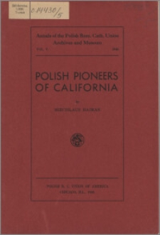 Polish pioneers of California